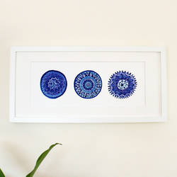 Blue and White Porto Plates High Quality Print