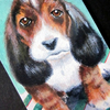 Basset Hound Puppy original miniature painting SPECIAL OFFER
