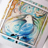 Art greeting card Kittiwake Seagull from my original painting