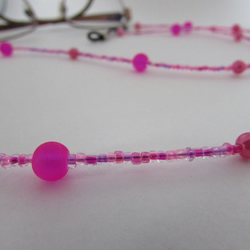 Glasses chain, Spectacle Chain, glasses holder, speactacle holder, pink chain