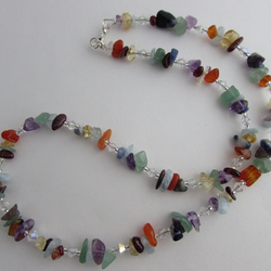 50% off all items, use code SALE17 Chakra Necklace. Rainbow Necklace