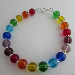 50% off all items with code SALE17 Rainbow Bracelet, Chakra Bracelet. 8.25""