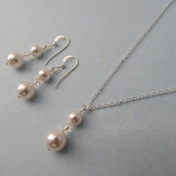 Receive 60% off with code CLOSE17 Swarovski Pearl & Crystal Necklace & Earrings