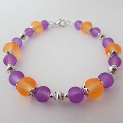 50% off all items with code SALE17 Purple & Orange Bracelet, Purple Bracelet