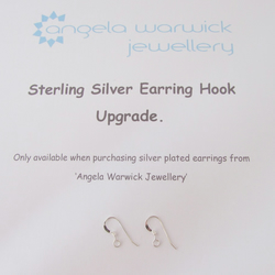 Sterling Silver Earring Hook Upgrade (One pair of hooks)