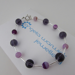 Receive 50% off with code SALE17 Purple Frosted Agate Bracelet, Agate Bracelet