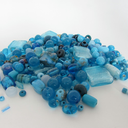 50% off all items with code SALE17 Blue Beads. Mixed bag of Blue Beads
