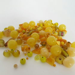 Yellow Beads. Mixed bag of Yellow Beads, Yellow Beads for craft making