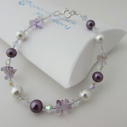 50% off all items with code SALE17 Ametrine, Pearl & Sterling Silver Bracelet,