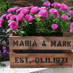 Personalised apple crate planter