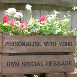 Personalised apple crate