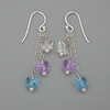RESERVED FOR D S- white, purple and blue Swarovski butterfly bead earrings