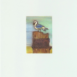 Little seagull postcard, from original artwork, snailmail, mail, postcrossing