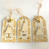 Gold Christmas Trees Gift Tags - set of 3