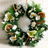 Faux Xmas Wreath with Fir, Flowers, Berries, Pine Cones, Cinnamon (11 x11 inch)