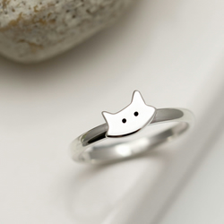 Sterling Silver Kitty Cat Ring