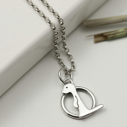 Sterling Silver Meerkat Necklace in a Circle