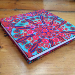 Handmade Square Sketchbook Covered in a Kaffe Fassett Fabric