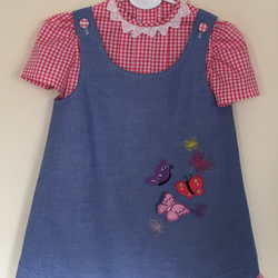 Pinafore Dress Outfit with Butterflies