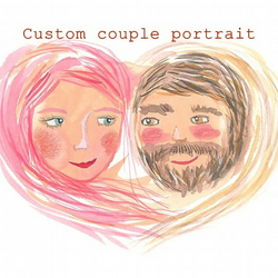 Original A4 custom couple portrait