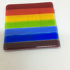 Rainbow glass coaster (1)