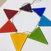 Rainbow fused glass bunting