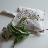 Vintage tablecloth embroidered lavender bag dried lavender lavender pouch