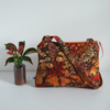 Vintage Liberty fabric Autumnal zip up shoulder bag
