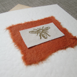 Bee Rustic Card