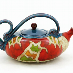 Hand made Ceramic Teapot,Unique  Art pottery, Coffee pot, Valentine gift 50oz