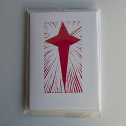 Shining Star Cards, pack of 4 (2 colours)