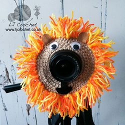 Lion Camera Lens Buddy, Yellow Lion Lens Critter, Newborn Photography Prop