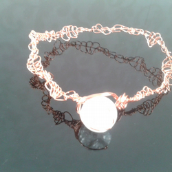 Mermaid's bubble bangle with quartz gemstone