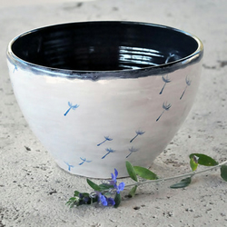 """Be free"" big hand thrown bowl"