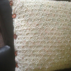 Large floor cushion in dot pattern