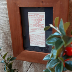 Framed Copy Vintage Pharmacy Medicine Apothecary Label