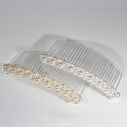 SALE! 10cm Swarovski® pearl bridal hair comb, White OR Cream wedding  veil comb