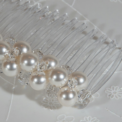 SALE! 7cm Pearl & crystal comb, Swarovski® bridal hair comb, Wedding veil comb