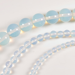 Reconstructed Moonstone beads, 3 strings 4mm 6mm & 10mm beads, Supplies