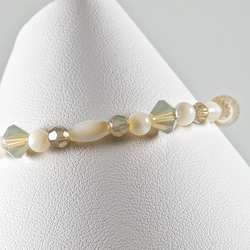 SALE! Pearl bracelet, Swarovski® Sand Opal & Mother of Pearl bracelet