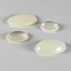 x13 Mother of Pearl cabochons, Gemstone flat backed, jewellery supplies