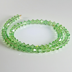 x71 4mm Swarovski®Crystals, Peridot crystal bicones, jewellery supplies, beading