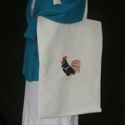 Dark Brown Chicken Tote bag