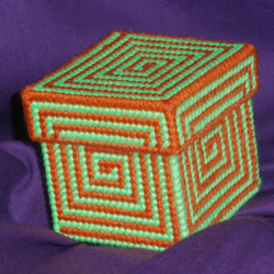 Orange and Green Spiral Trinket Box