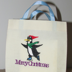 Merry Christmas Penguin Gift Bag