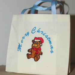 Merry Christmas Tebby Bear Gift Bag