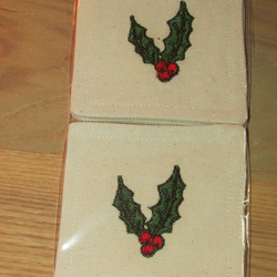Set of 4 Holly Coasters
