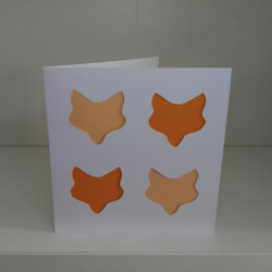 Fox Blank Card, Paper Cutting