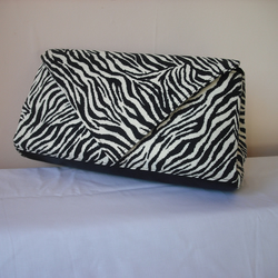 African inspired zebra print clutch bag