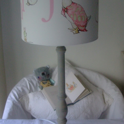 Beatrix Potter Jemima Puddle Duck - Handmade Nursery table Lampshade 20cm Drum